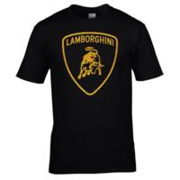 Wholesale vinyl glitter - Mens T-shirt Shirt Premium Quality Gold Glitter Vinyl Lamborghini T Shirts Short Sleeve Leisure Fashion Summer Short Sleeve Cool Casual