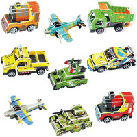 Wholesale toy red jet plane - Children Stereoscopic Puzzle Paper Model Three Dimensional Aircraft Series Simulation Jigsaw Puzzle Intelligence Toy Wisdom Gift 1 79bq W