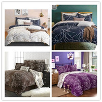 Wholesale Quilt Cover Double Size - Tree Branch Doona Duvet Quilt Cover Set Queen King Double Size Bed Set Linen New Free Shipping