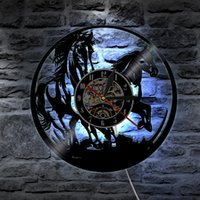 Wholesale visual laser resale online - Visual Horse Laser Wall Clock LED Lighting Color Changing Light Laser Remote Controller Bedroom Sleeping Christmas Decoration T56
