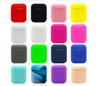 auriculares 3d al por mayor-50 unids para Apple Airpods Funda de silicona Suave Ultra Thin Protector Funda Funda para vainas de aire Auricular Funda Multicolor