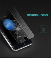 iphone verpackte blaue kiste großhandel-Erstklassiger 9H 2.5D ausgeglichener vorderer Glasschirm-Schutz-Schutzfilm für iPhone 6 6G 6S 7 8 PLUS X XS MAX XR Ohne Kleinpaket