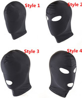 Wholesale adult sex mouth game - 4 Style Fetish Mask Hood Sexy Toys Open Mouth Eye Bondage Hood Party Mask Cosplay Hood Headgear Mask Adult Game Sex Products
