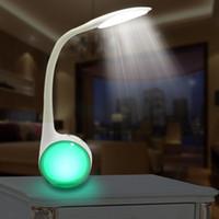 kitap ac toptan satış-USB Şarj Edilebilir dokunmatik led masa lambası renkli kitap okuma ışığı Göz Koruması kısılabilir Esnek Gece Lambası renk değiştirilebilir