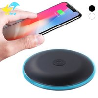 Wholesale wireless ufo - For Iphone X UFO Fast Quick Qi Charger wireless charger 9V 1.67A 5V 2A charging With Led Light With Cable For S7 Edge S8 Plus note8 Iphone 8