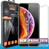 iphone schirmschutz schock großhandel-Shock Bull Marke Für 2018 NEUE Iphone Xr XS MAX 8PLUS X Gehärtetes Glas Displayschutzfolien Für Iphone 6 7 Plus 2.5D Explosion Displayschutzfolie