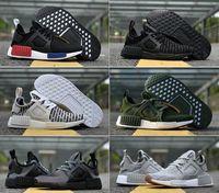 Wholesale hard plastic duck - 2017 Original NMD_XR1 PK Running Shoes Cheap Sneaker NMD XR1 Primeknit OG PK Zebra Bred Blue Shadow Noise Duck Camo Core Black Fall Olive