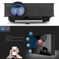 ingrosso sd input-Mini proiettore WiFi UNIC UC46 LED domestico Home Theater portatile 1200 lumen Proiettore LCD Supporto USB VGA HDMI Scheda SD Ingresso AV