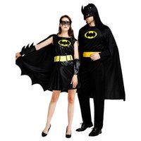 Wholesale batman costumes for sale - Halloween cosplay Batman costume men and women masquerade stage performance outfit