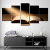 Wholesale sun room panels online - Canvas Wall Art Pictures Modular Home Decor Pieces Bible Book Under The Sun Paintings HD Prints Posters Living Room