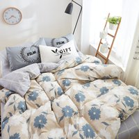 Wholesale Full Comforter Set Boys - Autumn bedding cotton set Nordic bedding set 100% COTTON sheet, pillowcase & duvet cover 3  4pcs boys bed linen set blue flower