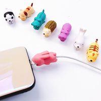 schutztiere großhandel-Tierkabel beißen USB-Blitz-Ladegerät Datenschutz Abdeckung Mini Wire Protector Kabel Telefon Zubehör Kreative Geschenke 36 Designs