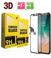 iphone ekran koruyucusu tasarımları toptan satış-Iphone x 8 için temperli cam 3d tam kapak ekran koruyucu karbon fiber tasarım perakende kutusu olmadan 9 h 0.33mm yumuşak kenar koruyucu film