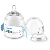 Wholesale avent feeding bottles resale online - AVENT PP BPA Free ml oz Baby Drink Bottle to Cup Trainer Kit Infant Feeding Bottle with Cover Handle Bottle for month Baby