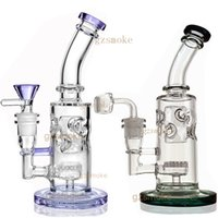 Wholesale inline honeycomb resale online - Bong fab egg bongs honeycomb inline perc glass pipe dab rig water pipes quartz banger wax oil rigs smoking accessories hookahs