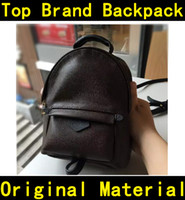 Wholesale children school branded backpack - Designer backpack high quality flower printing Luxury Famous Brands genuine leather Handbags kids children backpacks school bag 41560 41561