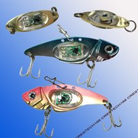 Wholesale walleye lures resale online - LED fishing lures LED Lighted Bait Flasher Saltwater Freshwater Bass Halibut Walleye Lures Attractant Offshore Deep Sea Dropping