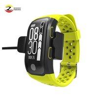 rastreador c al por mayor-2p'c's GPS Sports Smart Watch IP68 Impermeable Natación Pulsera Monitor de Ritmo Cardíaco Fitness Tracker Medida S908 Reloj