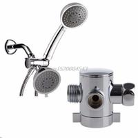 биде клапан оптовых-Оптовая торговля-три способа T-адаптер клапан для туалет биде душевая головка перекрывной клапан 1/2 дюйма R06 Drop Ship