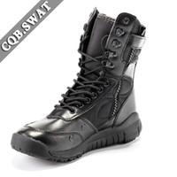 botas de combate tácticas negras al por mayor-CQB.SWAT 2018 Army Boots Men Tactical Boot black spring Botas de combate y transpirables con cremallera ZD-022 East Wolf