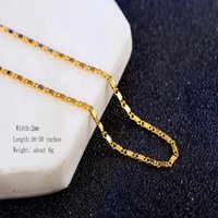 Wholesale popular gold chain styles for sale - 2MM INCH Popular Punk Hip Hop Style Men s Yellow Gold Color Choker Chains Necklaces for Party Stage Accessories