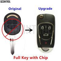 flip-taste alarm großhandel-QCONTROL Verbesserte Auto Fernschlüssel DIY für Chevrolet Lacetti / Optra / Nubira Fahrzeug Flip Pocket Alarm