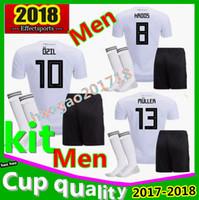 Wholesale Germany National - Germany 2018 kit World Cup home jersey MULLER OZIL HUMMELS KROOS WERNER SANE SCHURRLE M.GOTZE German national team 2018 men Football jerses
