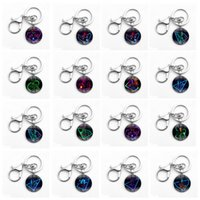 Wholesale Key Chain Iron Man - Avengers Keychain Iron Man Captain America Spiderman Time Gemstone Alloy Glass Key Chain Keyring 24 Styles Novelty Items OOA5038