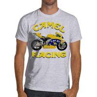 0458154cf2 Max Biaggi Moto RC211V Moto GP Corrida de Motos T-Shirt Macio Camelo Corrida  Honda