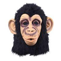 kostümler goriller toptan satış-Cadılar bayramı cosplay gorilla Masquerade maske Maymun Maymun Kral Kostümleri Yükselişi gerçekçi Festivali Parti maskeleri caps