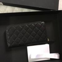 f990057f3 Famosa marca de moda clássico diamante mulheres bolsa de couro de alta  qualidade de ouro e prata saco de embreagem de hardware caviar carteira de  luxo