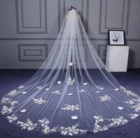 langer schleppschleier groihandel-Brautschleier extra langes weiches Garn neue koreanische Schleppkopf Gaze Hochzeit Zubehör Notwendigkeiten einer romantischen Hochzeit versandkostenfrei