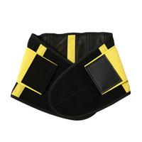 corsés de fitness al por mayor-Hombres y mujeres Apoyo lumbar Entrenador de cintura Cinturón deportivo Neopreno Body Shaper Corsé deportivo Gimnasio Gimnasio Culturismo Cinturón