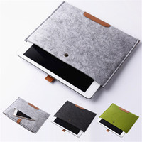 Wholesale leather laptop sleeve macbook pro - leather Felt Shockproof notebook Liner bag for Macbook for ipad air pro 11 13 15 inch laptop bag protective sleeve tablet cases