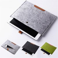 leder notizbuch ärmel großhandel-Leder Filz stoßfest Notebook Liner Tasche für Macbook für iPad Air Pro 11 13 15 Zoll Laptop Tasche Schutzhülle Tablet-Hüllen