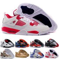 Wholesale Best Zoom - [With Box]Best Basketball Shoes 4 white cement Athletics trainers Sports Shoes Zoom Sneakers Discount Sale Training Boot Trainer