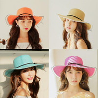 Wholesale wide brimmed hat free shipping for sale - Group buy Women Summer Sun Hats With Bowknot Wide Brim Hats Straw Bucket Hat Beach Hats Girl Nice Gift Multicolor Free Ship