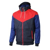Wholesale red jacket ship - Men Spring Autumn Windrunner jacket Thin Jacket Coat,Men sports windbreaker jacketothes Windbreaker Coats sweatshirt tracksuit free shipping