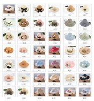 Wholesale Foldable Beach Hats For Women - Wide brim hats large floppy hats foldable straw hat summer beach hat for lady sunscreen cups outdoor sun hats 42 styles FSH0001