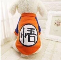 mardi gras maskot kostüm toptan satış-Küçük Köpek Pet Giyim Dragon Ball Goku Kazak T-Shirt Sıcak Giyim Kostüm Köpek Giysileri Chihuahua Için Köpekler Oyunu Maskot