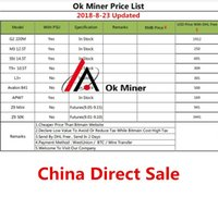 Wholesale antminer s9 online - Price List Antminer S9 L3 D3 A3 X3 E3 V9 S7 T9 M3 A8 E9 S11 A9 new and used X10 S11 D9 DCR T Z9 mini k Innosilicon Avalon