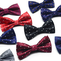 Wholesale butterfly mens tie for sale - Group buy New Mens Fashion Jacquard Bowtie Wedding Party Bow Tie Leisure Casual Butterfly Tie Bowknot Cravat Tuxedo Suit Dot Bowtie