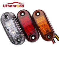 янтарные огни прицепа оптовых-1pc 24v 12v amber led side marker lights for trucks side clearance marker light clearance lamp 12V Red White for Trailer
