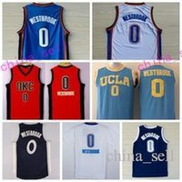 Wholesale college baseball uniforms - Newest 0 Russell Westbrook Jersey Shirt UCLA Bruins College Uniforms Throwback Christmas Home Road Blue White Orange Size S-3XL