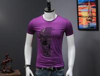 imagem única da camisa venda por atacado-2018 hip hop projeto original de perfuração de ouro quente crânio imagem o pescoço oversize verão tops manga curta gritante 4xl t shirt homens