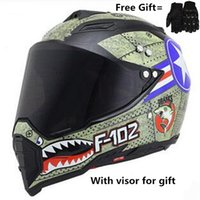 Wholesale helmet approved resale online - SDU print Full Face Motorcycle Helmet Street Sport Bike DOT Approved M Matte Black BMX Downhill Helmet with gloves for
