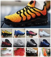 Wholesale chocolate packing - Sales 2018 VaporMax TN PLUs VM OliVe In Metallic White Silver Colorways ShOes For RunnING Male Shoe Pack Triple Black Men AIRS ShOes