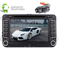 Wholesale volkswagen jetta eos - Double Din Car Stereo 7'' Android 6.0 Quad-core GPS Navigation Head Unit Car dvd Player for Jetta Golf Passat EOS GPS Bluetooth