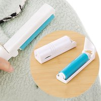 Wholesale Furniture Blankets - New 18.7cm 10cm*2.9cm Portable Washable Lint Sticky Roller 4 Colors Hair Dust Remover Cloth Foldable Sticky Brushes