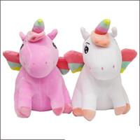 juguetes de animación modelo al por mayor-20 cm Sentado Espacio de Algodón Unicornio Modelo de Animación de Dibujos Animados de Peluche Pony Almohada de Juguete de Regalo Para Los Niños Envío Gratis 10 5rb Ww